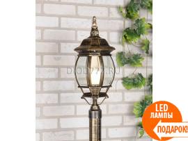 Светильник на столб 1043 черное золото