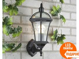 Светильник уличный настенный Capella черный