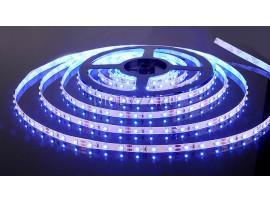 Светодиодная лента 3528/60 LED 4.8W IP20 [белая подложка] синий свет