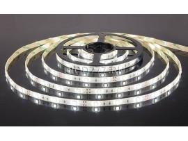 Светодиодная лента 5050/30 LED 7.2W IP65 [белая подложка] белый свет