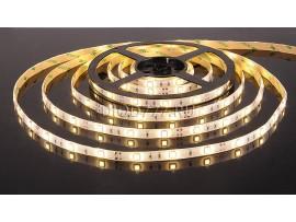Светодиодная лента 5050/30 LED 7.2W IP65 [белая подложка] теплый белый свет