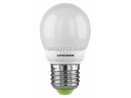 Энергосберегающая лампа Mini Globe Е27 7W 6500K