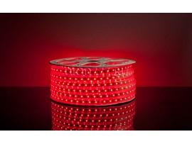 Светодиодная лента 5050/60 LED 13.2W 220V IP65 красный свет