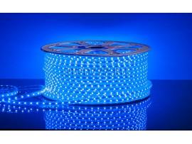 Светодиодная лента 3528/60 LED 4.4W 220V IP65 синий свет