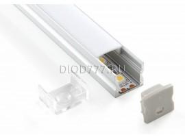 Накладной алюминиевый профиль для светодиодной ленты LL-2-ALP001-R
