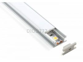 Встраиваемый напольный алюминиевый профиль  для светодиодной  ленты LL-2-ALP002