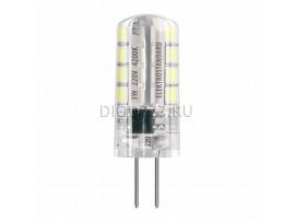 Лампа светодиодная G4 SMD 3W AC 220V 360° 3300K