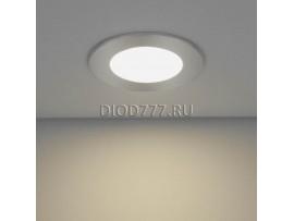 Встраиваемый потолочный светодиодный светильник DLS 155 (slim) 12W 4200K хром (CH)