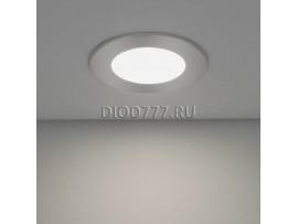 Встраиваемый потолочный светодиодный светильник DLS 155 (slim) 12W 6500K хром (CH)
