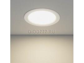 Встраиваемый потолочный светодиодный светильник DLS173 15W 4200K белый (WH)