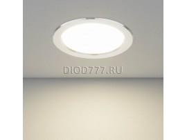 Встраиваемый потолочный светодиодный светильник DLS173 15W 4200K матовый алюминий (AL MATT)