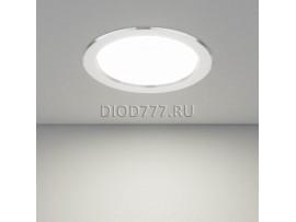 Встраиваемый потолочный светодиодный светильник DLS173 15W 6500K матовый алюминий (AL MATT)