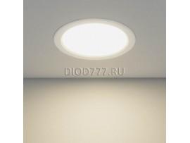 Встраиваемый потолочный светодиодный светильник DLS186 18W 4200K белый (WH)