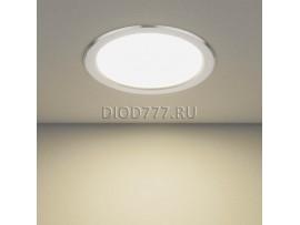 Встраиваемый потолочный светодиодный светильник DLS186 18W 4200K матовый алюминий (AL MATT)