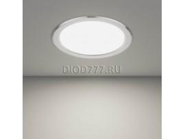 Встраиваемый потолочный светодиодный светильник DLS186 18W 6500K матовый алюминий (AL MATT)