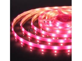 Светодиодная лента 5050/30 LED 7,2 W IP65 розовый свет