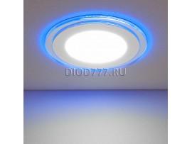 Встраиваемый потолочный светодиодный светильник DLKR160 12W 4200K синий