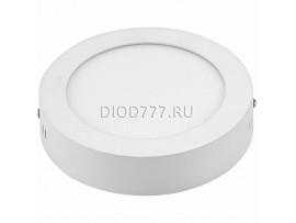 Накладной потолочный светодиодный светильник DLR002 12W 4200K белый WH