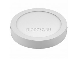 Накладной потолочный светодиодный светильник DLR002 18W 4200K белый WH