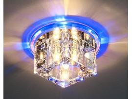 Потолочный светильник точечный со светодиодной подсветкой в форме куба N4/S BL (синий)