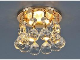 Светильник точечный с хрусталем 2051-C FGD/Clear (золото / прозр. хрусталь)
