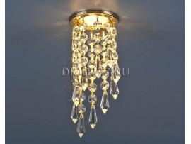 Светильник точечный с хрусталем 205A-C MR16 GD/CL золото/прозрачный