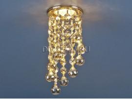 Светильник точечный с хрусталем 205C C GD/WH (золото/тонированный)