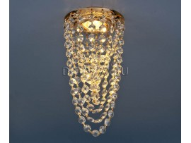 Светильник точечный с хрусталем 205V GD/WH (золото / прозрачный хрусталь)