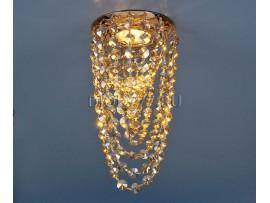 Светильник точечный с хрусталем 205V G/GD (золото / тонированный хрусталь)