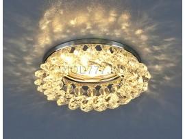 Светильник точечный с хрусталем 206 CH/CLEAR (хром/прозрачный)