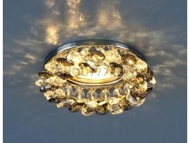 Светильник точечный с хрусталем 206 CH/SBK/CLEAR (хром/дымчатый/прозрачный)