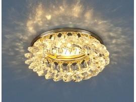 Светильник точечный с хрусталем 206 GD/CLEAR (золото/прозрачный)
