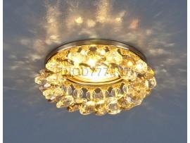 Светильник точечный с хрусталем 206 GD/GL/CLEAR (золото/тонированный/прозрачный)
