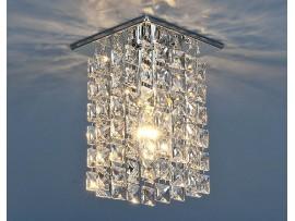 Светильник точечный с хрусталем 207 CH/CLEAR (хром/прозрачный)