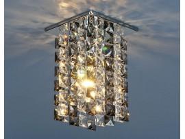 Светильник точечный с хрусталем 207 CH/SBK /CLEAR (хром/дымчатый/прозрачный)