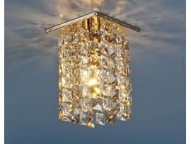 Светильник точечный с хрусталем 207 GD/GL/CLEAR (золото/тонированный/прозрачный)