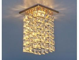Светильник точечный с хрусталем 207 MR16 золото/прозрачный (GD/Clear)