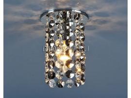 Светильник точечный с хрусталем 208 CH/SBK/CLEAR (хром / дымчатый / прозр.)