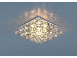 Светильник точечный с хрусталем 7235 CH/WH (хром/прозрачный)
