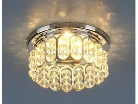 Светильник точечный с хрусталем 7241 CH/WH (хром/белый)