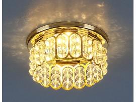 Светильник точечный с хрусталем 7241 GD/WH (золото/белый)