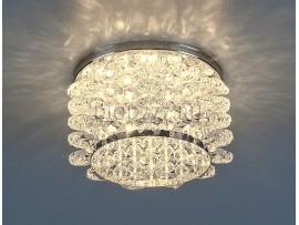 Светильник точечный с хрусталем 7248 CH/WH (хром/белый)