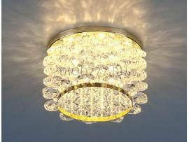 Светильник точечный с хрусталем 7248 GD/WH (золото/белый)