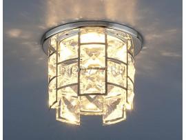 Светильник точечный с хрусталем 7270 CH/Clear (хром / прозрачный)