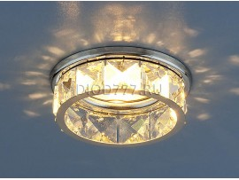 Светильник точечный с хрусталем 7275 СH/Clear (хром / прозрачный)