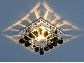Светильник точечный с хрусталем 7276 хром / черный  (CH/BK)