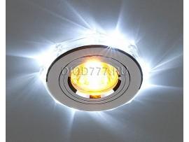 Светодиодный точечный светильник 2020/2 SL/LED/WH (хром / белый)