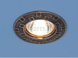 Точечный светильник для подвесных, натяжных и реечных потолков 7202 бронза (GAB)