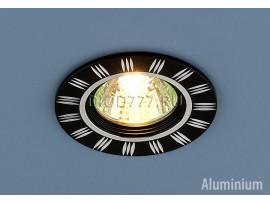 Точечный светильник из алюминия 5814 черный/хром