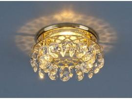 Точечный светильник с хрусталем 7070  GD/WH (золото/прозрачный)